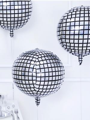 Folijas balons - Disco bumba, hologrāfisks, 40 cm