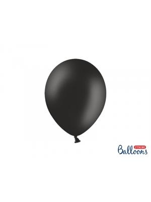 50 gb, Pasteļtoņa baloni, melni, 27 cm