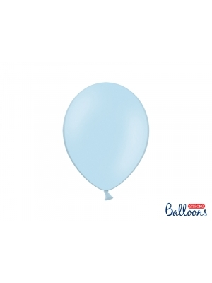 50 gb, Pasteļtoņa baloni, gaiši zili, 27 cm