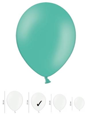 50 gb, Pasteļtoņa baloni, zilganzaļi, 27 cm