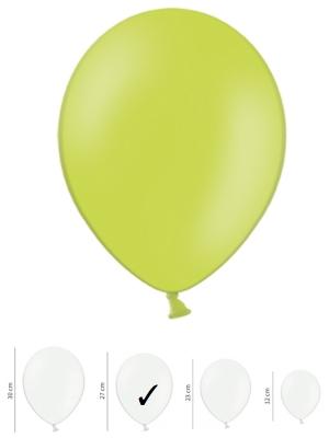 50 gb, Pasteļtoņu baloni, laima zaļi, 27 cm