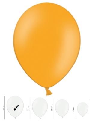 50 gb, Pasteļtoņu baloni, mandarīnu oranži, 30 cm