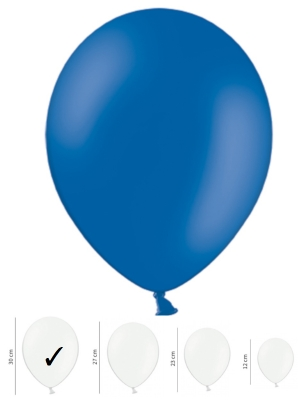 50 gb, Pasteļtoņu baloni, zili, 30 cm