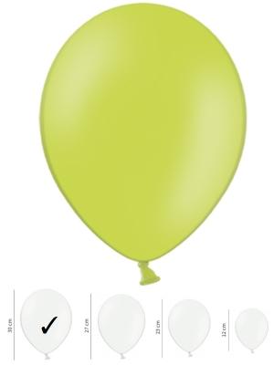 50 gb, Pasteļtoņa baloni, laima zaļi, 30 cm