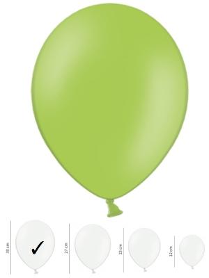 50 gb, Pasteļtoņa baloni, spilgti zaļi, 30 cm
