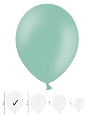 50 gb, Pasteļtoņa baloni, piparmētras zaļi, 30 cm