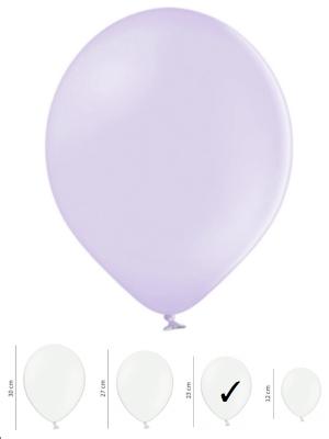 100 gb, Pasteļtoņa baloni, gaiši violeti, 23 cm