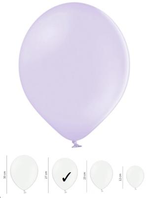 50 gb, Pasteļtoņu baloni, gaiši violeti, 27 cm