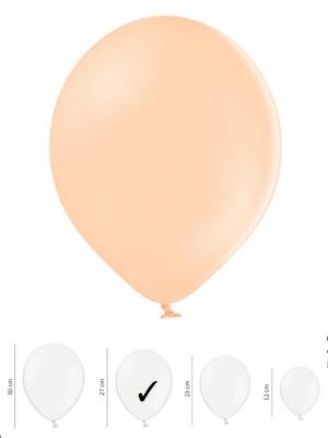 100 gb, Pasteļtoņu baloni, gaišs persiks, 27 cm