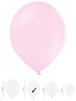 10 gab, Pasteļtoņa baloni, gaiši rozā, 27 cm
