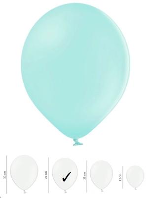 50 gb, Pasteļtoņu baloni, gaiši piparmētras, 27 cm