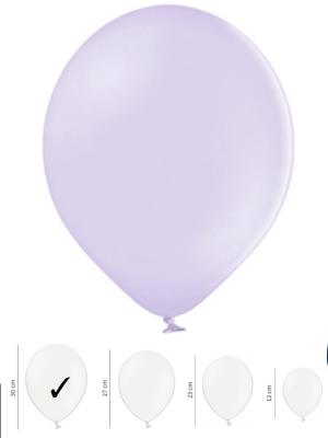 50 gb, Pasteļtoņu baloni, gaiši violeti, 30 cm