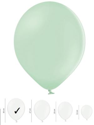 Pasteļtoņu balons, pistāciju, 30 cm
