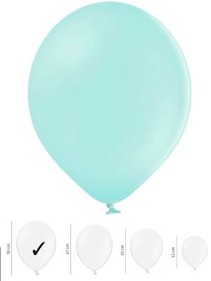 50 gb, Pasteļtoņu baloni, gaiši-piparmētras, 30 cm