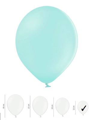 100 gb, Pasteļtoņu baloni, gaiši-piparmētras, 12cm