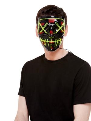 Mirgojoša šūtas sejas maska (zaļš neons)
