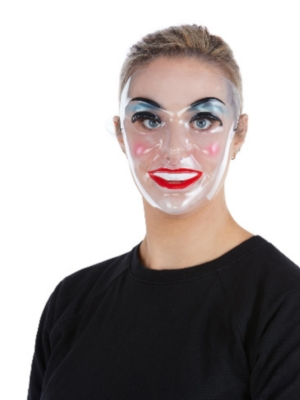Caurspīdīga sievietes maska