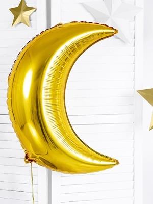 Folijas balons Mēness, zelta, 60 cm