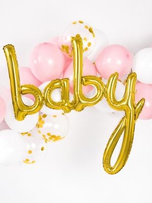 Folija balons Baby, zelta, 73,5 x 75,5 cm