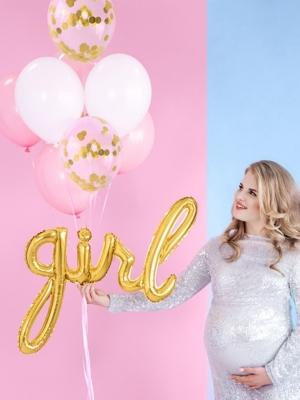 Folijs balons Girl, zelta, 77x70cm