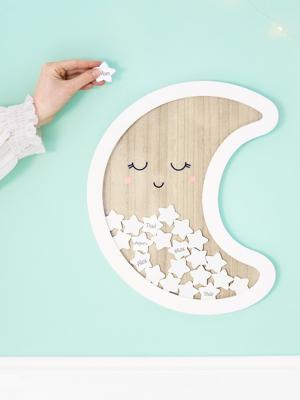 Koka viesu grāmata - Pusmēness, 38.5 x 30 cm