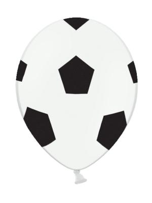 6 gab, Baloni - Futbolbumba, balti, 30 cm