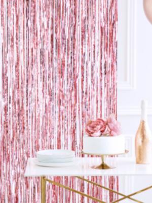 Lietutiņa aizskars, rozā zelts, 90 x 250 cm