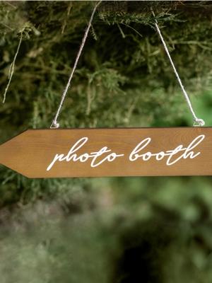 Koka norāde Photo booth, 36 x 7,5 cm
