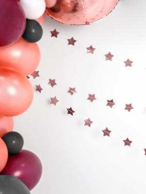 Virtene - Zvaigznes, rozā zelta, 5 x 360 cm
