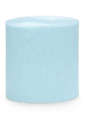 4 gab, Kreppapīra ruļļi, gaiši zili, 5 cm x 10 m