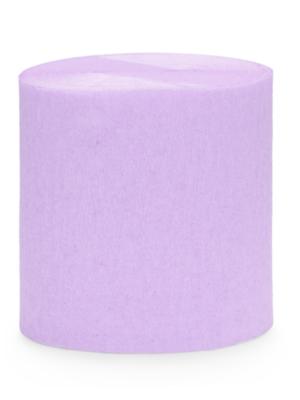 4 gab, Kreppapīra ruļļi, gaiši violeti, 5 cm x 10 m