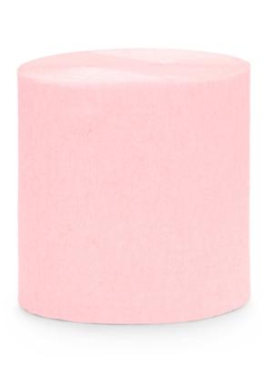 4 gab, Kreppapīra ruļļi, gaiši rozā, 5 cm x 10 m