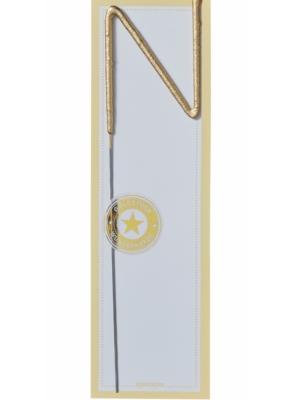 Brīnumsvecīte - N, zelta, 6 x 20 cm