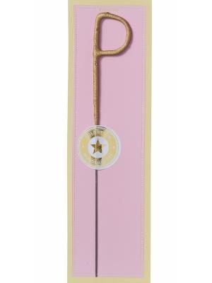 Brīnumsvecīte -P, zelta, 6 x 20 cm