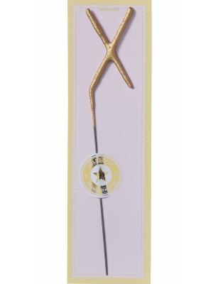 Brīnumsvecīte - X, zelta, 6 x 20 cm
