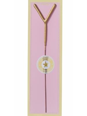 Brīnumsvecīte - Y, zelta, 6 x 20 cm