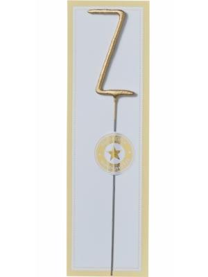 Brīnumsvecīte - Z, zelta, 6 x 20 cm