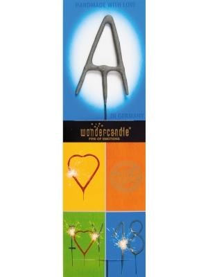 Brīnumsvecīte - A, sudraba, 6 x 20 cm
