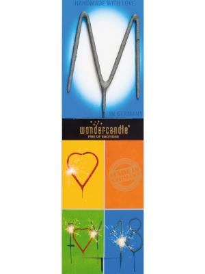 Brīnumsvecīte - M, sudraba, 6 x 20 cm