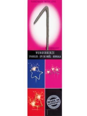 Brīnumsvecīte - 1, sudraba, 6 x 20 cm