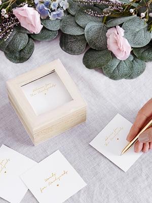 Viesu grāmata - vēlējumu kastīte, 9.5 x 9.5 x 6 cm