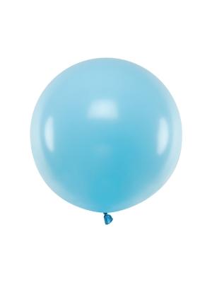 Pasteļtoņa balons, gaiši zils, 60 cm