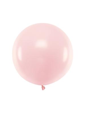 Pasteļtoņa balons, gaiši rozā, 60 cm
