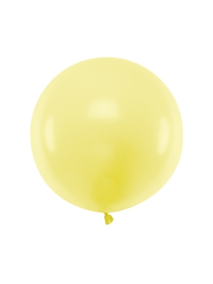 Pasteļtoņa balons, gaiši dzeltens, 60 cm