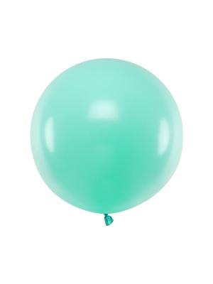 Pasteļtoņa balons, gaišs piparmētras, 60 cm