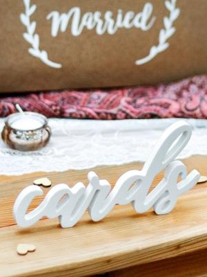 Koka dekors - Cards, balts, 20 x 10 cm