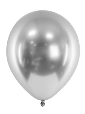 Hromēts balons, sudraba, 27 cm