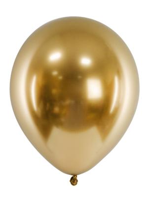 Hromēts balons, zelta, 27 cm