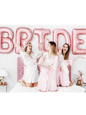 "Folija balons ""Bride"", rozā zelta, 280 x 86 cm"