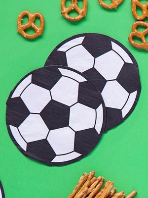 20 gab, Salvetes - futbola bumba, 13.5 x 13.5 cm